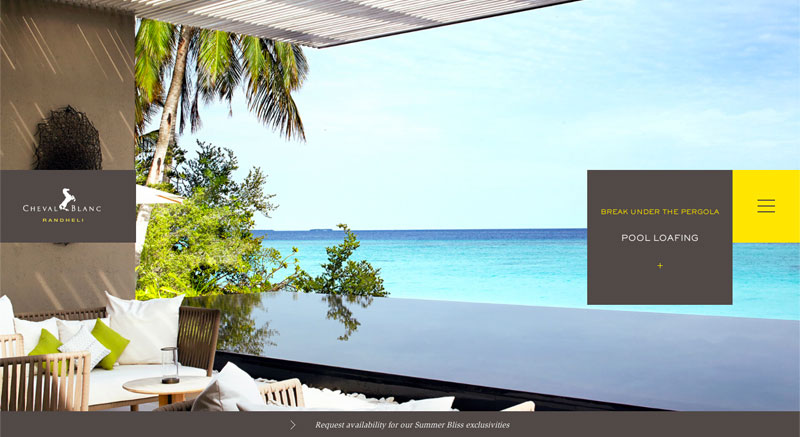 Randheli Cheval Blanc Luxury Hotel in the Maldives