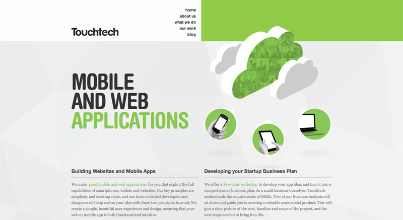 Touchtech Minimalist Websites Mobile and Web Applications